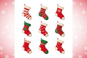 Set of Christmas Socks