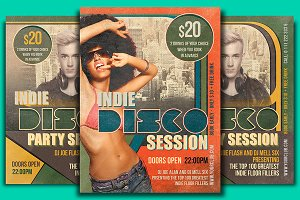Indie Disco Session Flyer Template