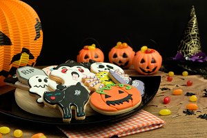 Creepy Halloween cookies