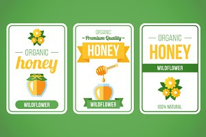 Honey label set