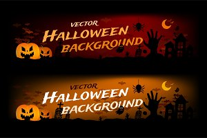 Halloween banner vector background