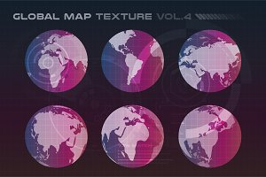 World vector map set