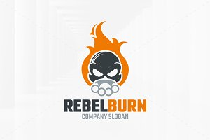 Rebel Burn Logo Template