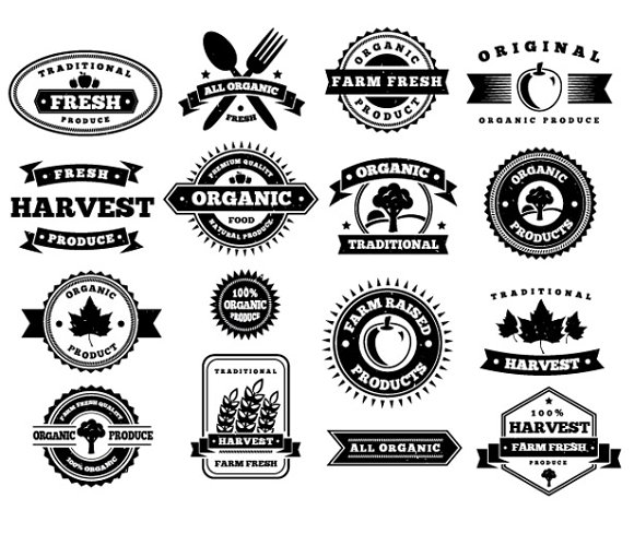 Harvest Vector Badges ~ Icons ~ Creative Market