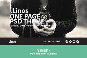 Linos - One Page Portfolio Psd Theme