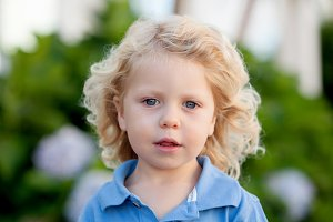 Beautiful boy three year old