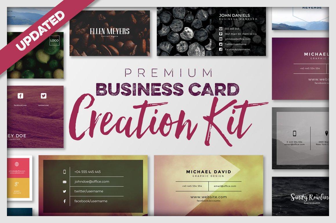 Business card creation kit business card templates creative market magicingreecefo Images
