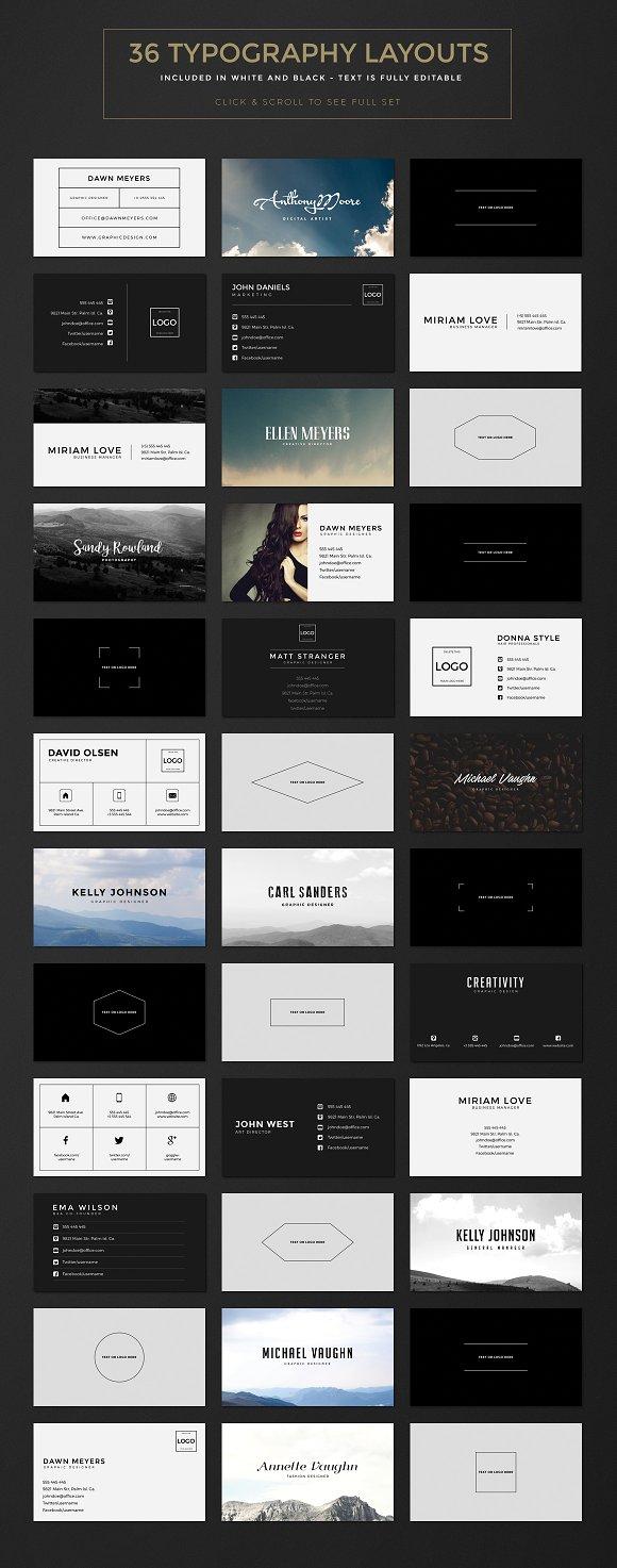 Business card creation kit business card templates creative market colourmoves Choice Image
