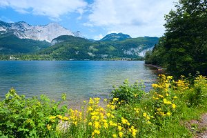 Alpine mountain lake