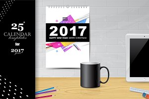 Calendar Templates for 2017 year.