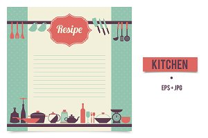Recipe template in vintage style