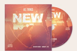 All Things New CD Artwork Template