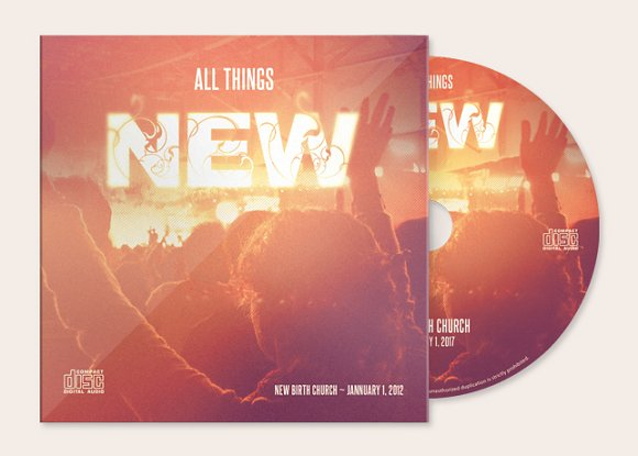 All Things New Cd Artwork Template Templates Creative Market