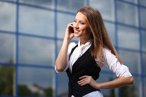 businesswoman standing