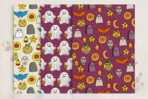 Set of Halloween's patterns