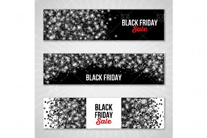 Black friday shine banners