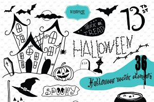 36 Halloween hand drawn designs