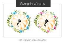 Pumpkin Flower Wreath