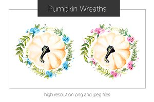 Pumpkin Flower Wreath