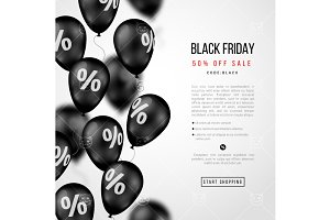 Black friday sale balloons
