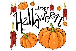 Halloween symbols pumpkin