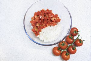 Diced Tomato and Onion