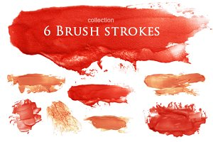brush strokes blots