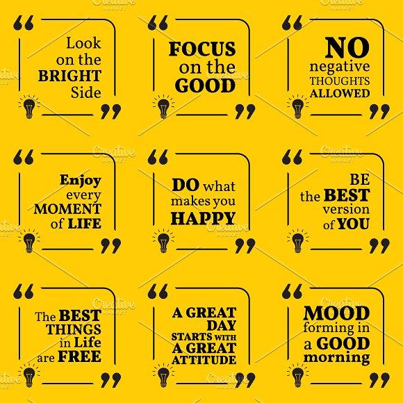 Nine motivational quotes. Set 1/55 - Illustrations