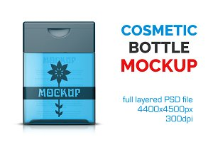 Clear Cosmetic Bottle Mockup Vol. 3