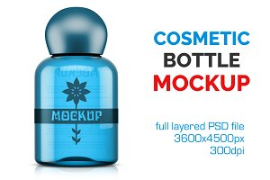 Clear Cosmetic Bottle Mockup Vol. 4