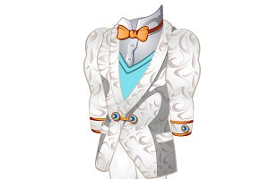 White wedding or ceremonial man suit