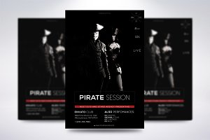 Dark Pirate Session Flyer