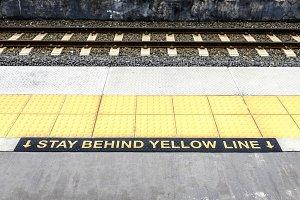 Train Tracks at Train Station