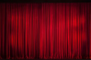 Red Velvet Curtain Image