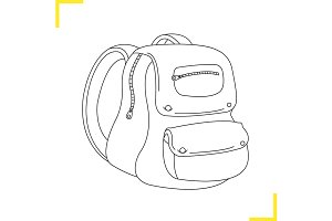 School backpack icon. Vector