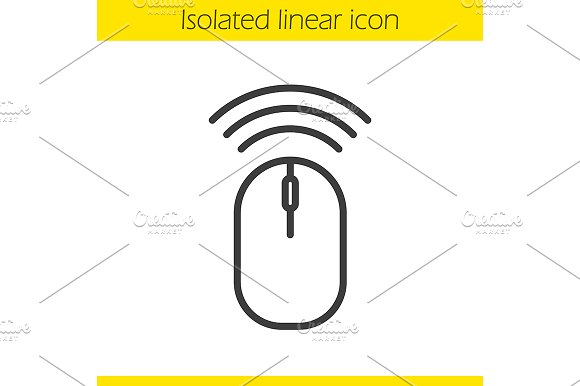 Wireless computer mouse icon. Vector - Icons