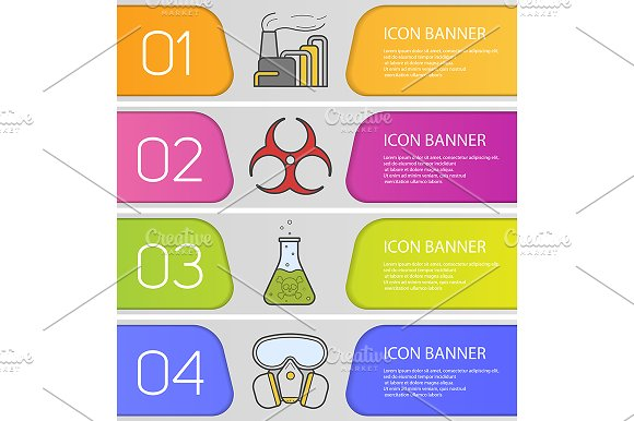 Chemical industry banners. Vector - Product Mockups