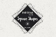 36 Hand Drawn Square Shapes