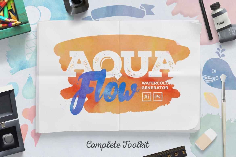 Aquaflow Watercolor Generator Layer Styles Creative Market