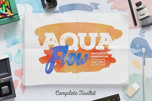 AquaFlow Watercolor Generator