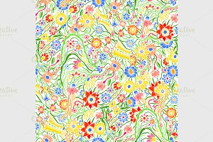 pattern with garden flowers