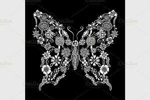 Decorative ornate butterfly