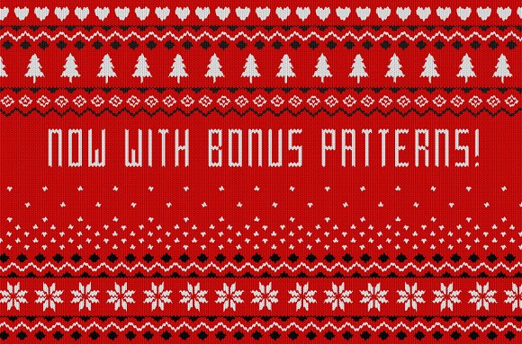 Christmas Sweater Pattern.Christmas Sweater Effect