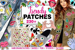 Trendy Patches big set + 12 patterns
