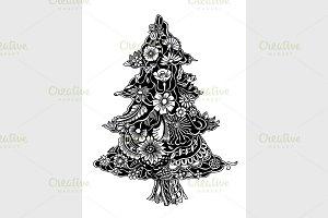 Christmas Tree of flowers