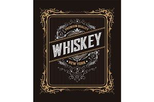Vintage label design for Whiskey