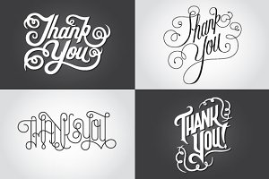 Thank You Vector Lettering