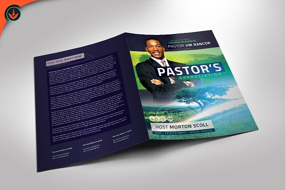 modern pastor s appreciation program brochure templates creative
