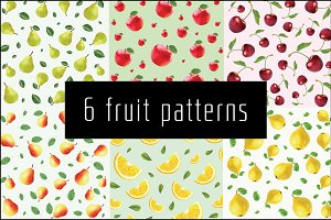 6 fruit patterns