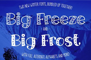 Big Freeze & Big Frost: winter fonts
